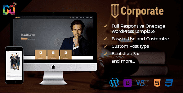 Corporate WordPress Theme free download