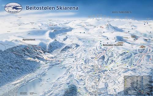 Beitostolen - mapa sjezdovek