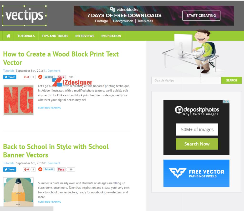 Top 9 website cung cấp tài nguyên cho Illustrator
