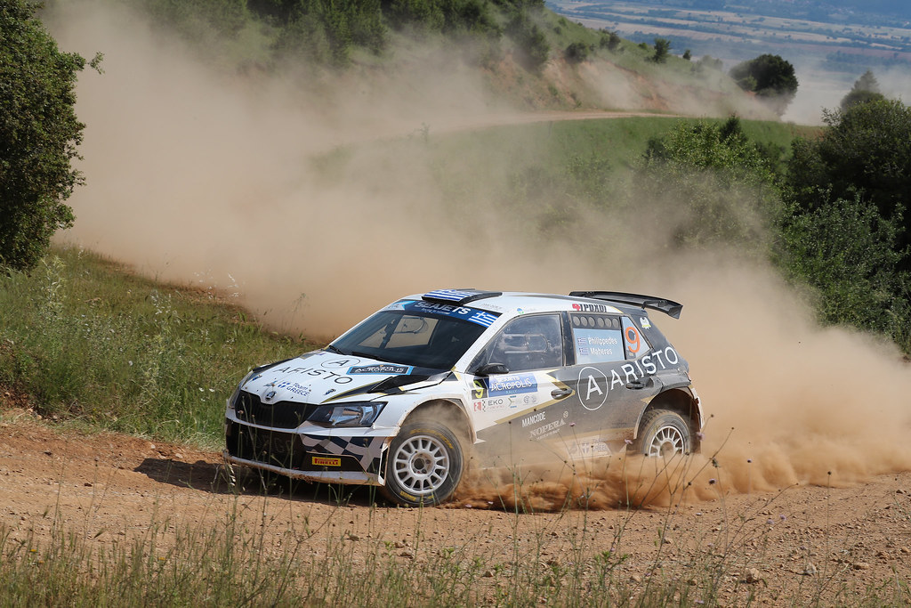 09 PHILIPPEDES George (grc) and MAHAERAS Leonidas (grc) actionN during the European Rally Championship 2017 - Acropolis Rally Of Grece - Loutraki From June 2 to 4 in Loutraki - Photo Gregory Lenormand / DPPI