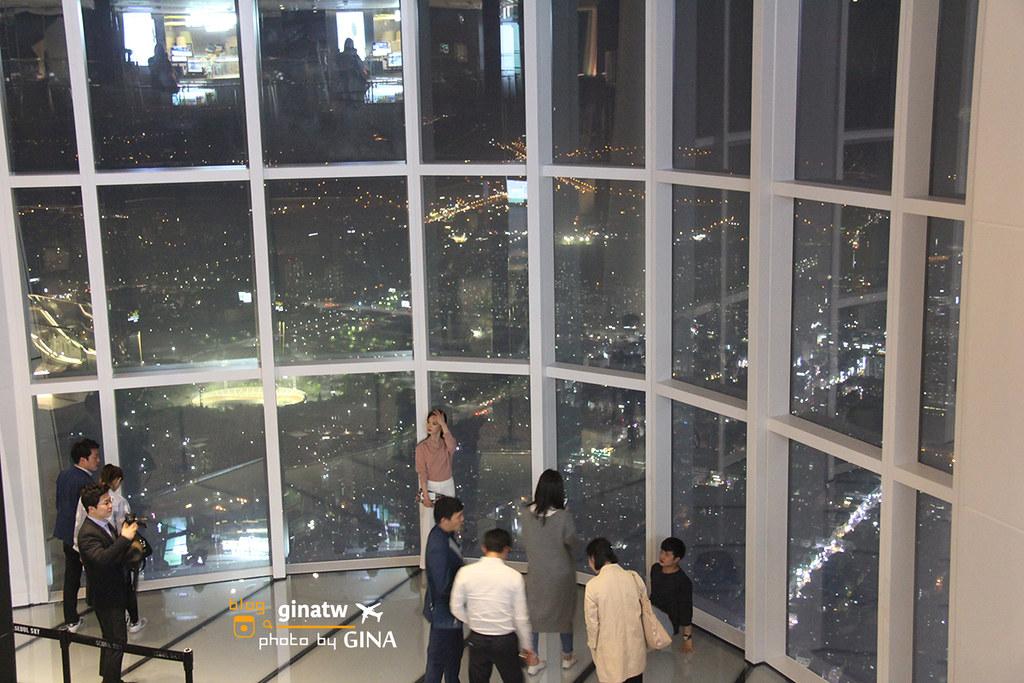 首爾SEOUL SKY 123層 樂天世界塔 / 樂天塔  最高樓來了 Lotte World Tower+ 石村湖超美春花 附地圖及交通方式 롯데월드타워 @Gina Lin