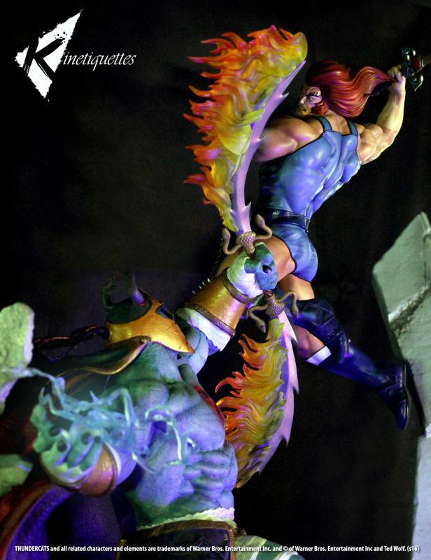 炸裂!!霹靂星王子與地球邪靈的對決  Kinetiquettes 【獅貓VS. 木乃伊】Lion-O V.S Mumm-Ra 1/5 比例對決場景雕像!!
