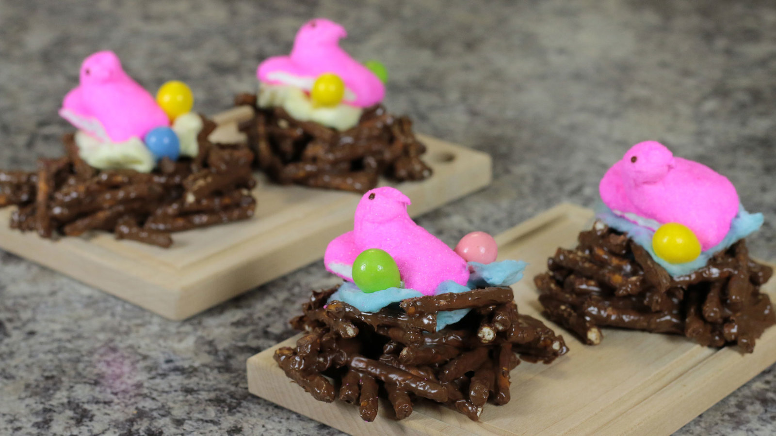DIY Easter Recipe - Chocolate Covered Pretzel Bird's Nest