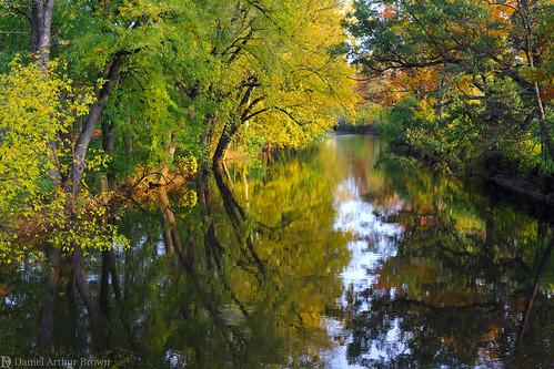 eastlansing mi msu michigan michiganstateuniversity october redcedarriver spartans autumn fall fallcolors fallfoliage landscape leafpeeping nature reflection river unitedstates us