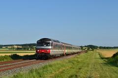 SNCF BB 67424 + Intercités 3888 te Chartuzac