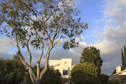 la losangeles west california ranchopark cheviothills landscape urban suburban residential neighborhood tree sky cloudy clear weather color horizontal