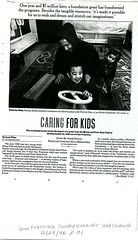 Caring for Kids, San Francisco Sunday Examiner and Chronicle, December 29 1996, 1 of 2