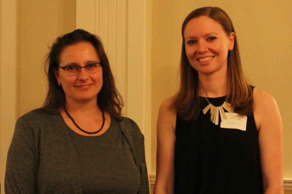 Anna Majewska and Rebecca Lowery (Neuroscience) recipient of the Vincent du Vigneaud Award