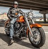 miniature Harley-Davidson 1690 SOFTAIL FAT BOY FLSTF 2012 - 1