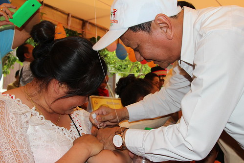 World Immunization Week 2017 at Ban Nongsonghong,  Xaythani District Vientiane Capital