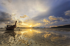 Thailand nature sunrise on the beach