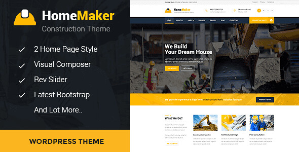 HomeMaker WordPress Theme free download