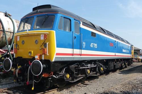 47715 'Haymarket' 'British Rail' Network Southeast liveried Class 47 on 'Dennis Basford's railsroadsrunways.blogspot.co.uk'