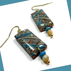 polymer clay woven earrings