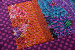 collage freeform table runner sweetpea designs machine embroidery  (4)