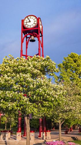 petoskey michigan unitedstates us sunset clock tower