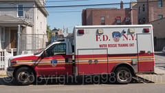 FDNY Water Rescue Training Unit Ambulance, Seaside, Queens, New York City