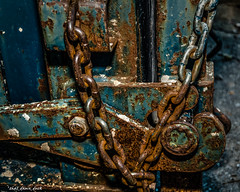 Rusted Tied Chain