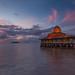 An unexpected beautiful sunset by the beach - (Explored) by Hafidz Abdul Kadir