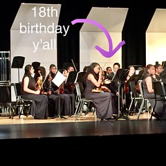 my brother is 18 today and he's playing the violin in his final school concert and I am SO PROUD OF HIM #violin #pbhs #littlebro
