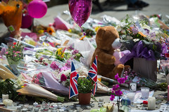 Floral tributes to victims of Manchester's attack
