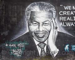 Nelson Mandela Tribute Mural (2013) by BG183, Stapleton, Staten Island, New York City