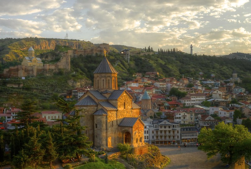 tbilisi sunset