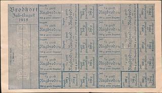 rationeringsmærker, brød 1918