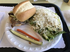 Half Roast Beef and Cheese with Chicken Salad