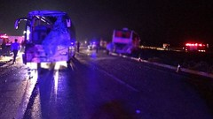 Yolcu Otobüsleri Çarpıştı Bir Çok Kişi Yaralandı