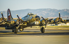the four-engine B-17 flying fortress