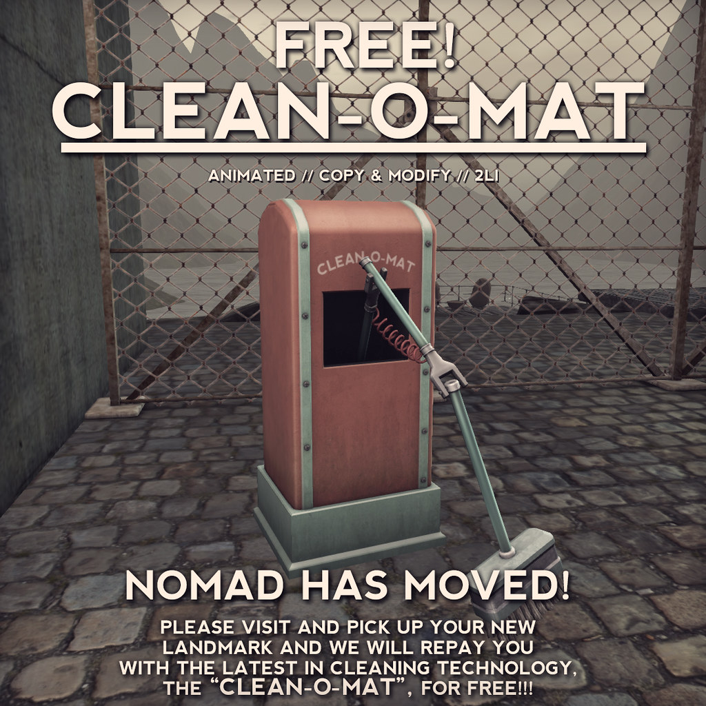 NOMAD // CLEAN-O-MAT - FREE GIFT! - SecondLifeHub.com