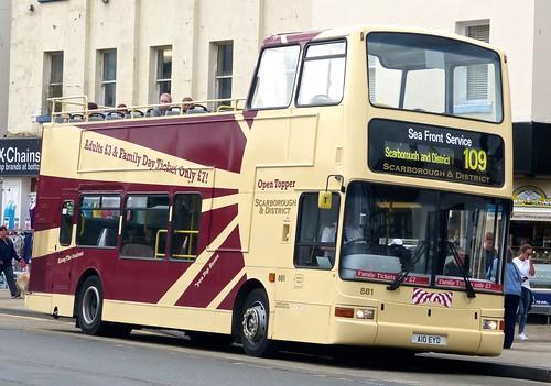 A10 EYD 'Scarborough & District' No. 881 Volvo B7TL  / Plaxton President /2 on 'Dennis Basford's railsroadsrunways.blogspot.co.uk'