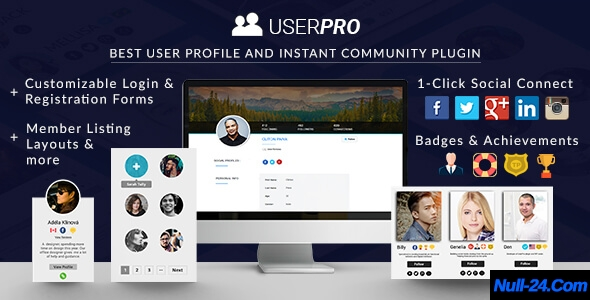 UserPro v4.9.13 – User Profiles with Social Login