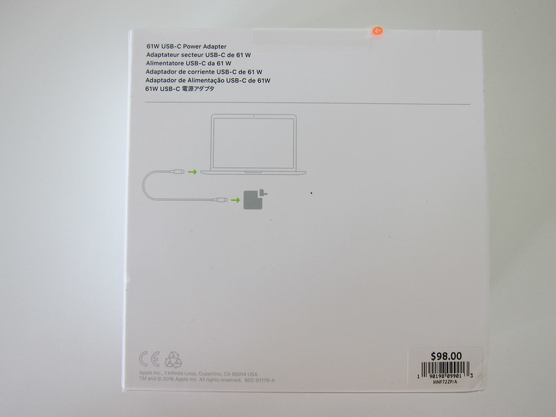 Apple 61W USB‑C Power Adapter - Box Back