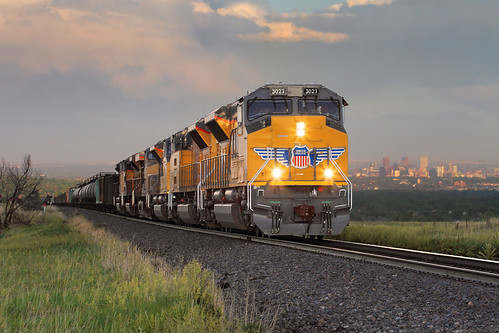 unionpacific up emd sd70acet4 newlocomotive 3027 freighttrain manifestfreight mnyro formerriogrande denver leyden colorado moffattunnelsub co