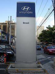 Totem Luminoso Painel Hyundai