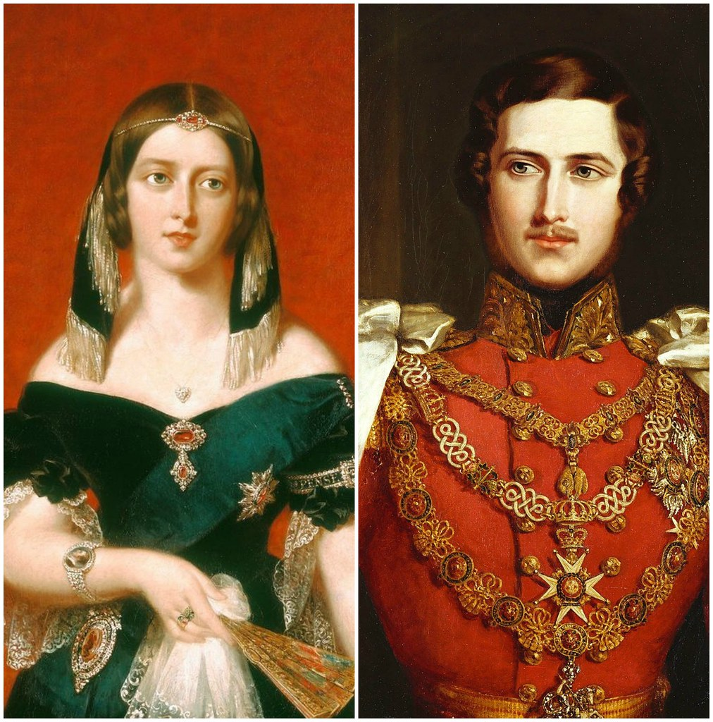 Queen Victorian and Prince Albert, 1840