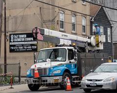 Con Edison Aerial Lift Truck, Rosebank, Staten Island, New York City