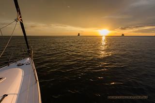 Sunset at yacht    XOKA7891S