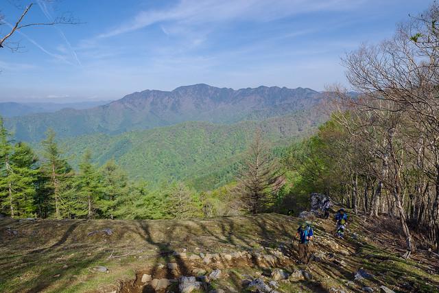 七ッ石山への登攀