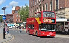 100 BGO, City Sightseeing Plaxton bodied Volvo, Norwich, 23rd. May 2017.