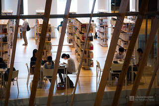 Study space in Toyama City Library (富山市立図書館)