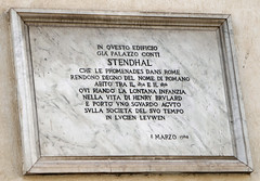 Photo of Stendhal marble plaque