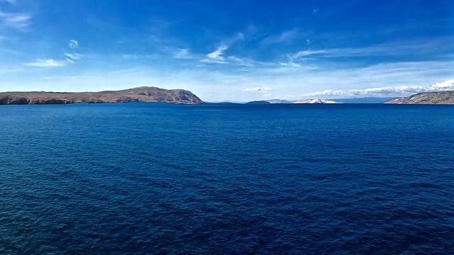 Sailing among the islands of Croatia.