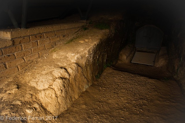 Ingresso lato sx Tomba dei leoni ruggenti