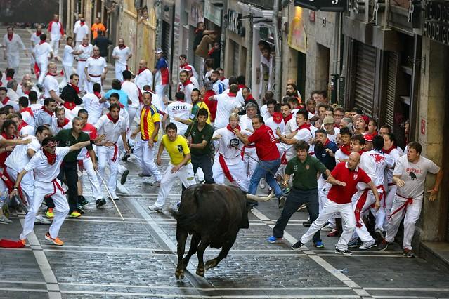 Sanfermin - Running Bulls 2016
