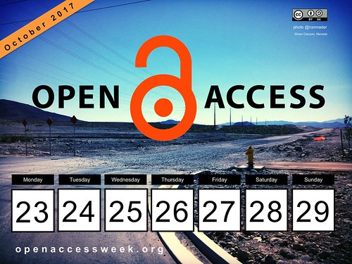 Open Access Week, October 23-29 #OpenInOrderTo #OAWeek