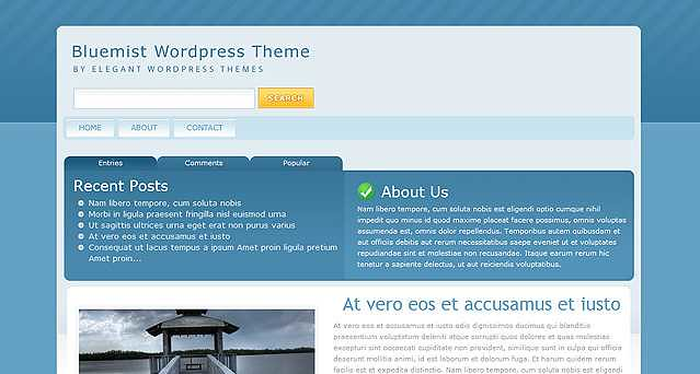 BlueMist WordPress Theme free download