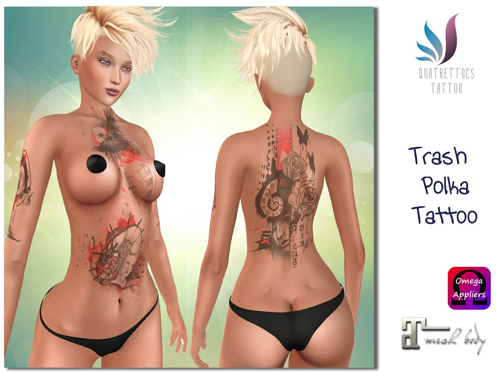 Trash Polka Tattoo - SecondLifeHub.com